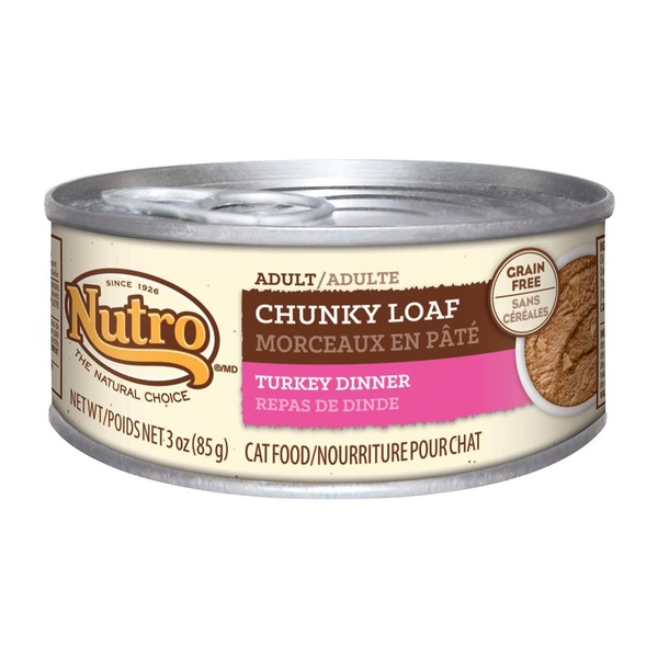 Nutro Adult Chunky Loaf Turkey Dinner Cat Food