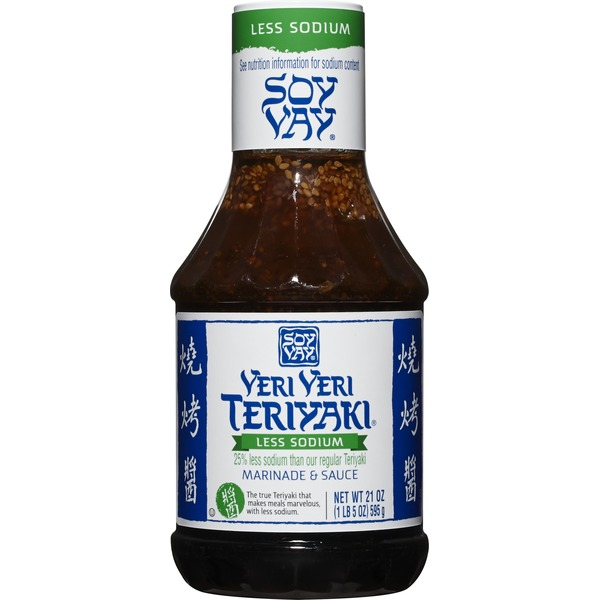 Soy Vay Marinade & Sauce, Veri Veri Teriyaki Less Sodium, 21 Ounces