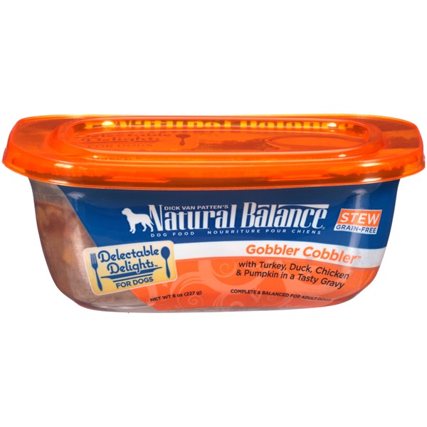 Natural Balance Delectable Delights Gobbler Cobbler Stew Dog Food