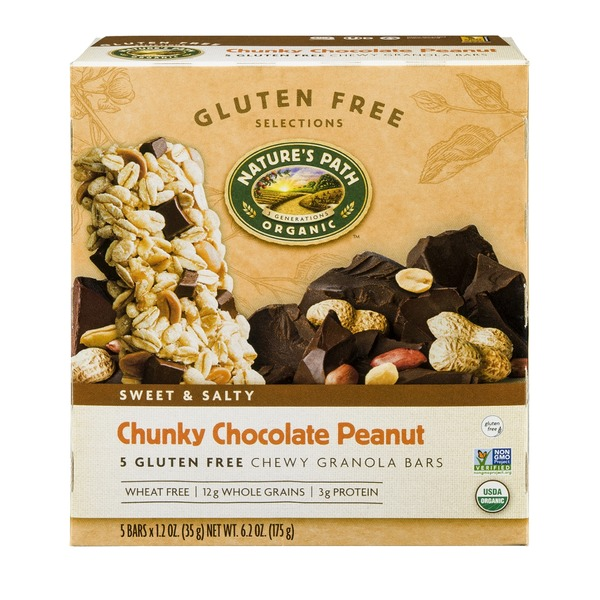 Nature's Path Organic Chunky Chocolate Peanut Chewy Granola Bars - 5 CT