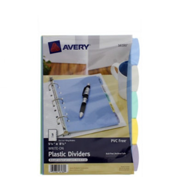 Avery Mini Durable Write On Plastic Dividers