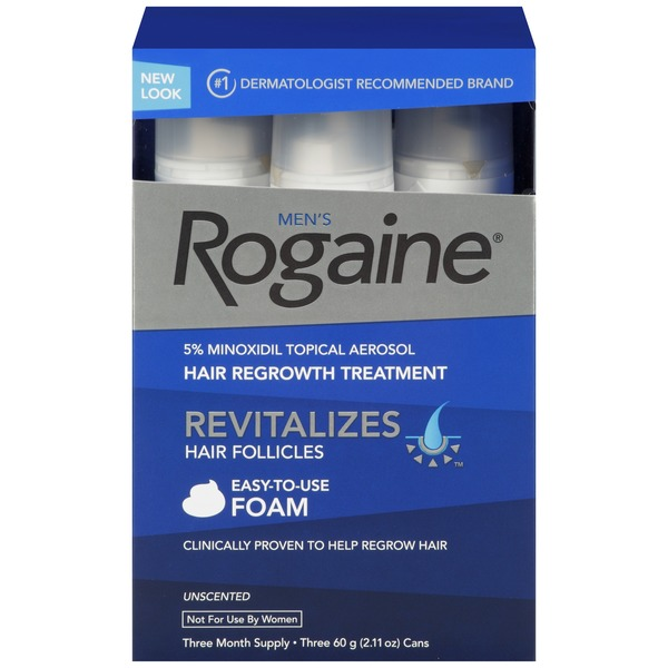 Men's Rogaine® 3 Month Supply 2.11 oz Hair Regrowth Treatment Foam