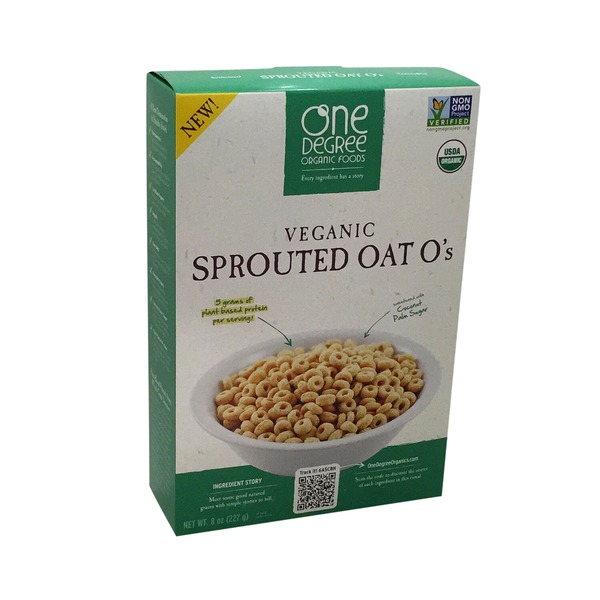 One Degree Organics Veganic Sprouted Oat O's Cereal