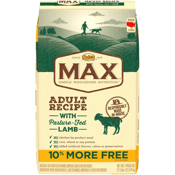 Nutro Max Adult Recipe with Pasture Fed Lamb Dog Food