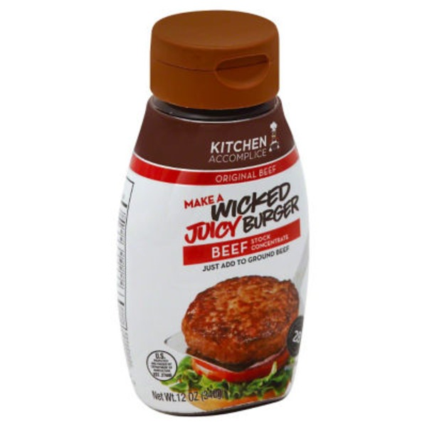 Kitchen Accomplice Sauce Juicy Burger Beef
