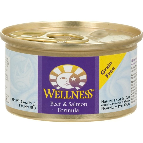 Wellness Adult Beef & Salmon Canned Cat Food