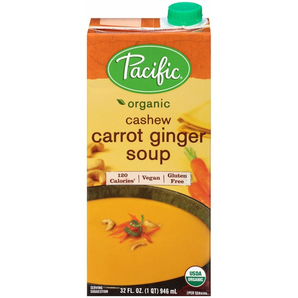 Pacific Organic Cashew Carrot Ginger Soup