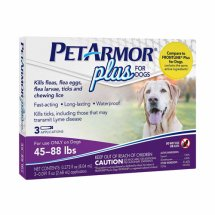 Petarmor Plus Flea and Tick Treatment Large Dogs, 3 Monthly Doses