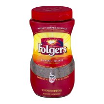 Folgers Instant Coffee Crystals Classic Roast, 12.0 OZ