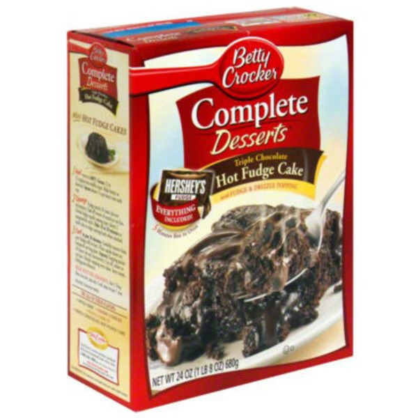 Betty Crocker Complete Desserts Triple Chocolate Hot Fudge Cake Mix