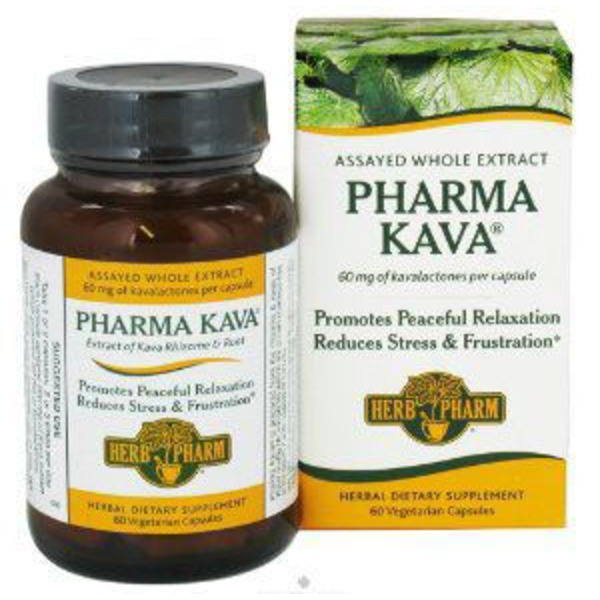 Herb Pharm KAVA Nervous System Herbal Supplement Vegetarian Capsules - 60 CT