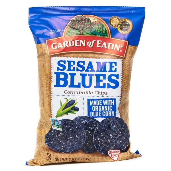 Garden of Eatin' Corn Tortilla Chips Sesame Blues