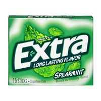 Extra Extra Long Lasting Spearmint Sugarfree Gum 15 Ct