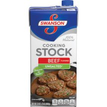 Swanson Unsalted Beef Flavored Cooking Stock, 32 oz.