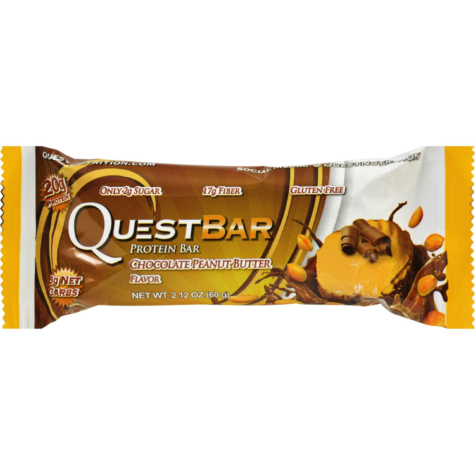 Quest Nutrition Protein Bars - Chocolate Peanut Butter - 2.1 oz