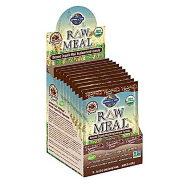 Garden of Life Raw Meal Organic Protein Chocolate Flavor Packets
