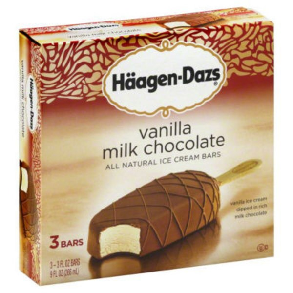 Haagen-Dazs Vanilla Milk Chocolate Ice Cream Bars Multi-Pack