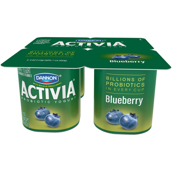Activia Blueberry Probiotic Lowfat Yogurt
