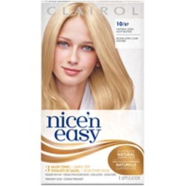 Clairol Nice 'n Easy, 10/87 Natural Ultra Light Blonde, Permanent Hair Color, 1 Kit Female Hair Color
