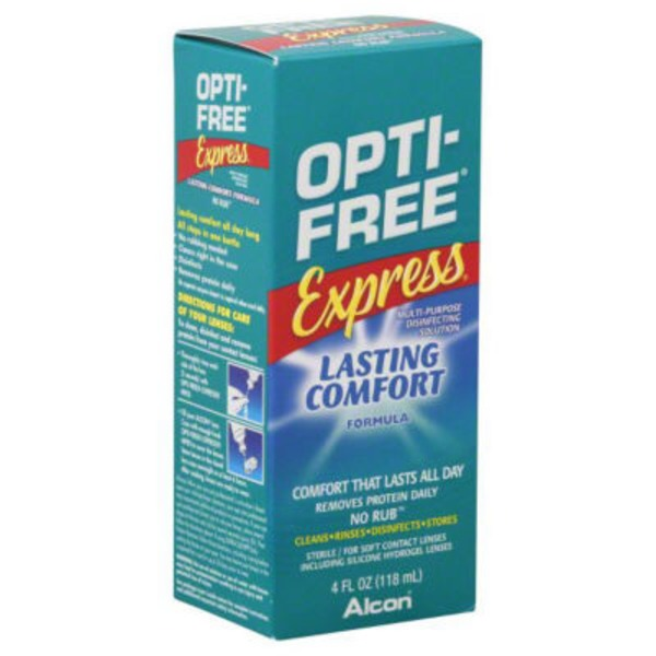 Opti-Free Express Multi-Purpose Disinfecting Contact Lens Solution Lasting Comfort Formula