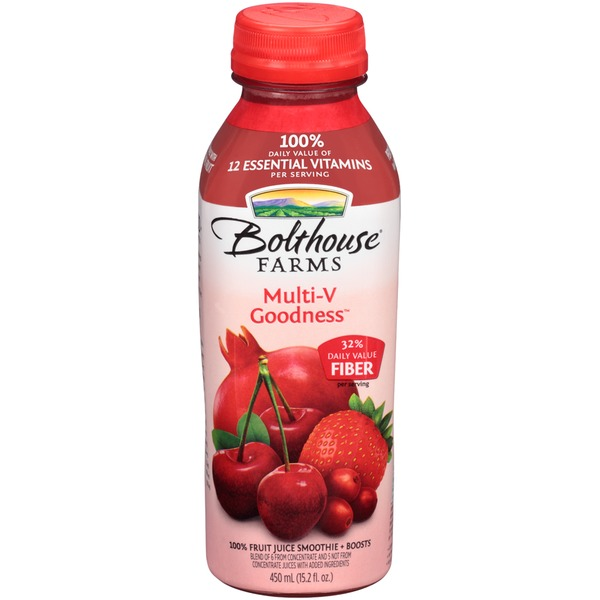 Bolthouse Farms Multi-V Goodness Cherry 100% Fruit Juice Smoothie + Boosts