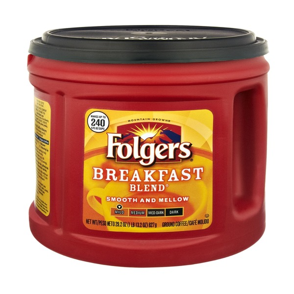 Folgers Breakfast Blend Ground Coffee Mild