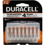 Duracell Easy Tab Size 312 Hearing Aid Batteries, 16 Count