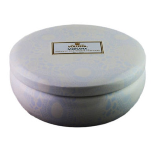Voluspa Japonica Collection, 3 Wick Candle in Decorative Tin, Mokara