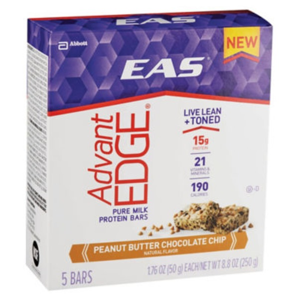 Eas Advantedge AdvantEdge Peanut Butter Chocolate Chip Pure Milk Protein Bars