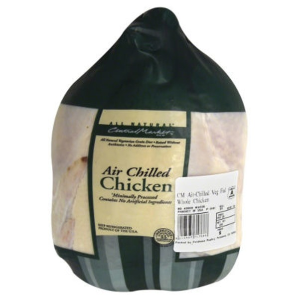 Central Market Air Chilled Veggie Fed Whole Chicken