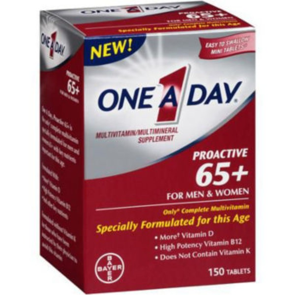 One A Day Proactive 65+ for Men & Women Tablets Multivitamin/Multimineral Supplement