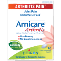 Boiron Arnicare Arthritis Pain Homeopathic Medicine Quick-Dissolving Tablets - 60 CT