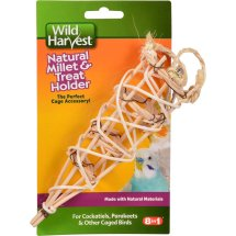 Wild Harvest Millet and Treat Holder for Cockatiels, Parakeets and other Caged Birds