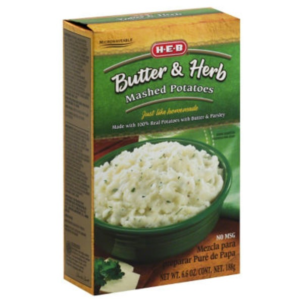 H-E-B Butter& Herb Mashed Potatoes