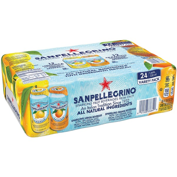 San Pellegrino Orange & Lemon Flavor Variety Pack Sparkling Fruit Beverage