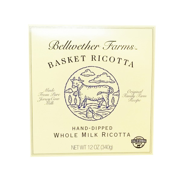 Bellwether Farms Hand Dipped Basket Whole Milk Ricotta