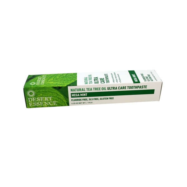 Desert Essence Toothpaste, Ultra Care, Natural Tea Tree Oil, Mega Mint