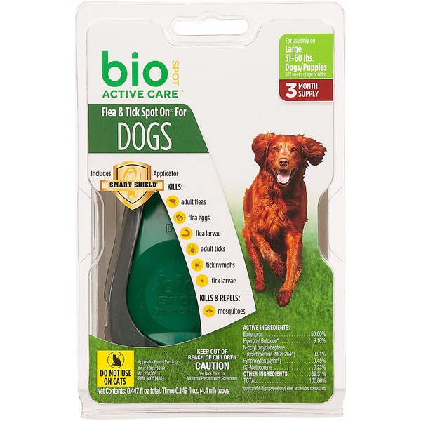 Bio Spot Active Care Flea & Tick Large Dog Spot On Applicator