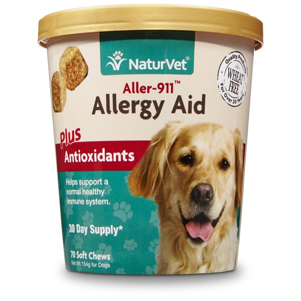 NaturVet Aller-911 Allergy Aid Dog Soft Chews