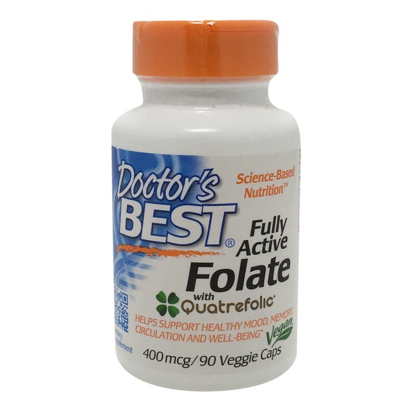 Doctor's Best 400 Mcg Fully Active Best Folate Dietary Supplement