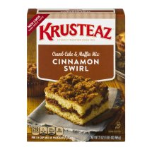 Krusteaz Crumb Cake & Muffin Mix Cinnamon Swirl, 21.0 OZ