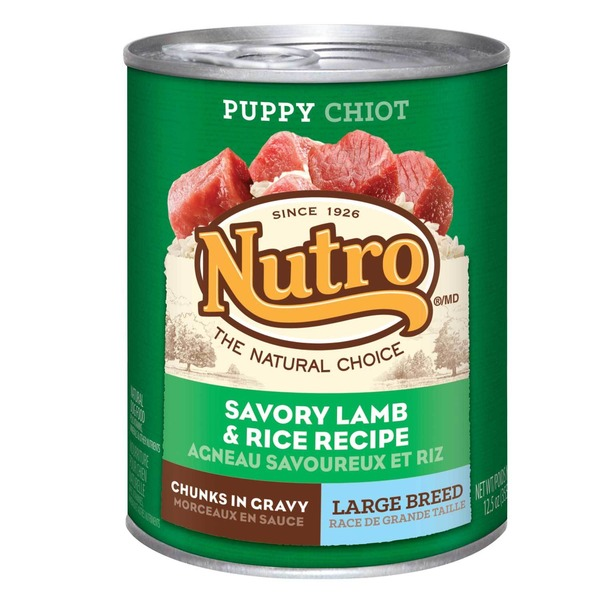 Nutro Puppy Large Breed Chunks in Gravy Savory Lamb & Rice Recipe Dog Food