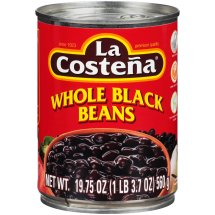 La Costena Whole Black Beans, 19.75 oz