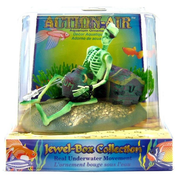 Penn-Plax Action-Air Aquarium Ornament Skeleton