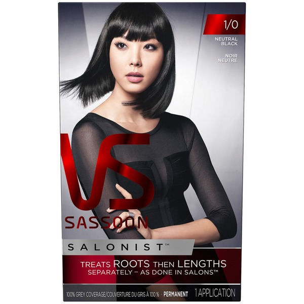 Vidal Sassoon Salonist Permanent Color 1/0 Neurtral Black Hair Colour