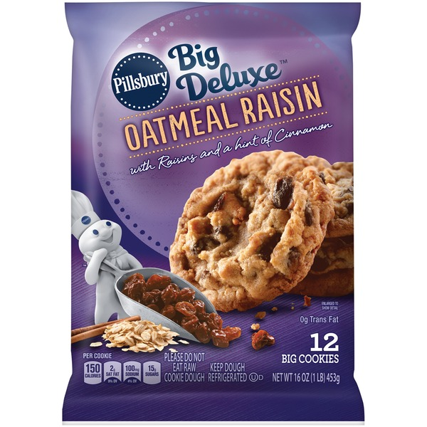 Pillsbury Big Deluxe Oatmeal Raisin Cookies