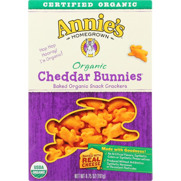 Annie's Homegrown Organic Cheddar Bunnies
