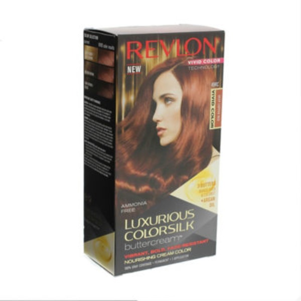 "Revlon Luxurious Colorsilk Buttercreamâ""¢ Haircolor Vivid Colors Collection 49 Rc Vivid Deep Copper Red Kit"