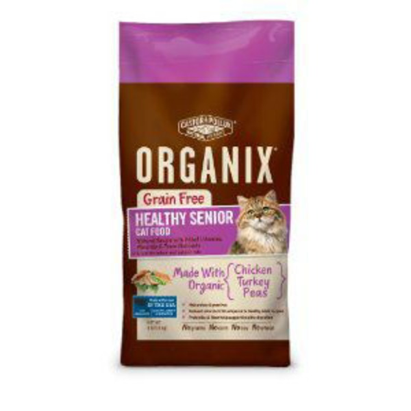 Castor & Pollux Chicken/Turkey/Peas Organix Healthy Senior Cat Food