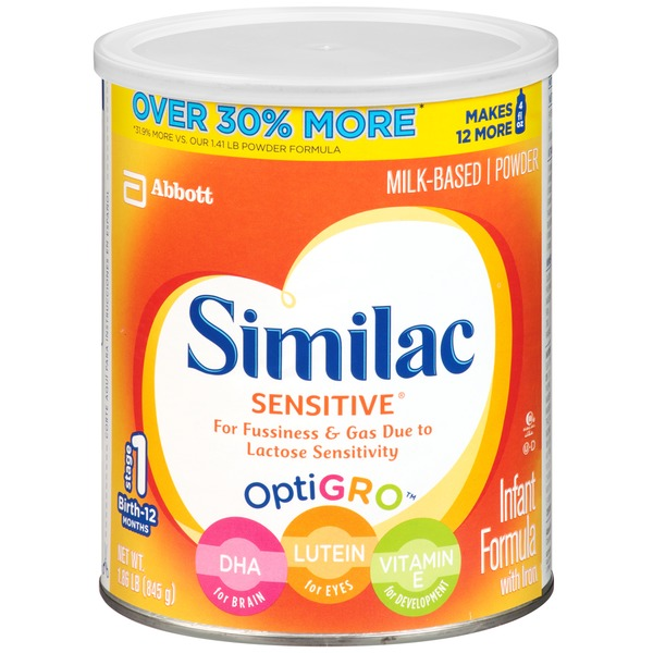 Similac Sensitive With Iron Birth to 12 Months Infant Formula